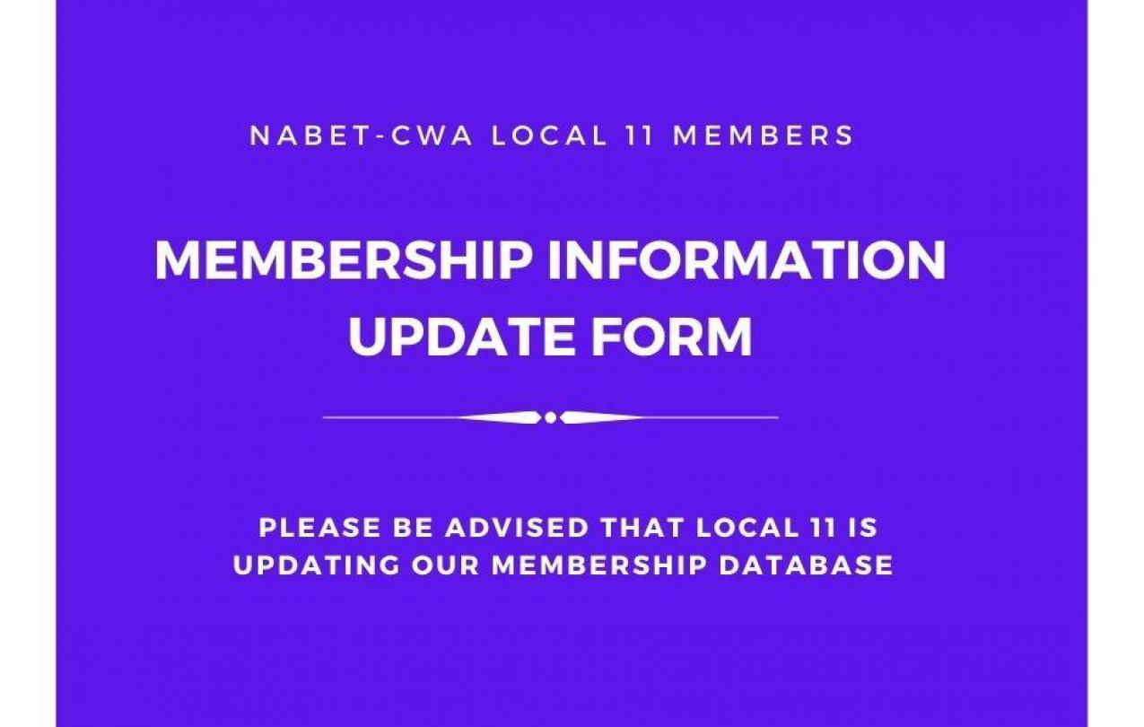 Membership Information Update Form