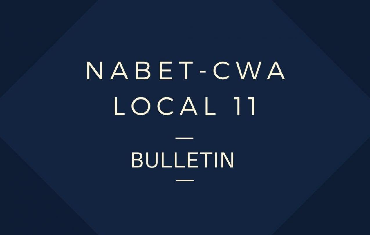 NABET-CWA Local 11 Bulletin