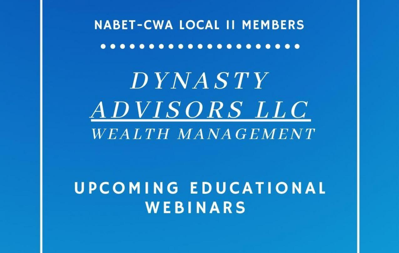 Upcoming Educational Webinars