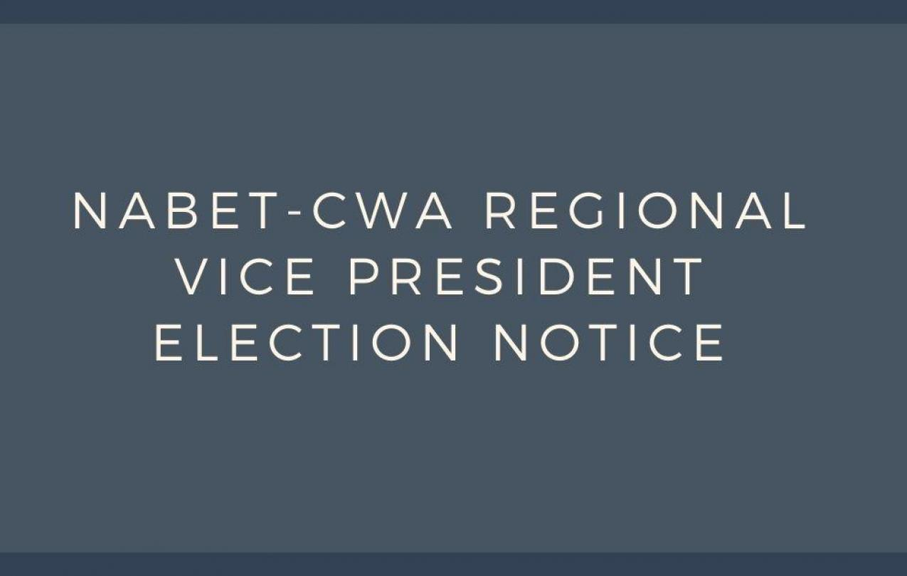REGIONAL VICE PRESIDENT ELECTION NOTICE
