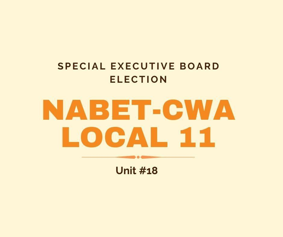 Special Election for Executive Board Member Unit #18